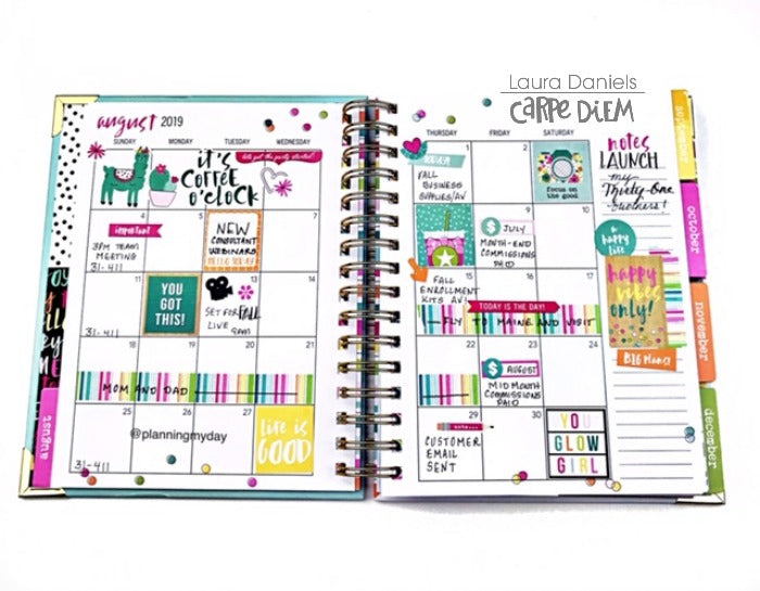 Oh Happy Day Sprial for A Work Planner!