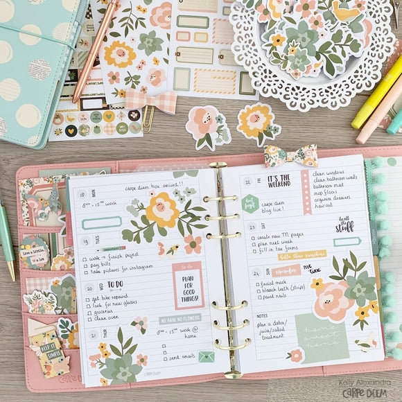 Springtime Paperclips and Weekly Spread