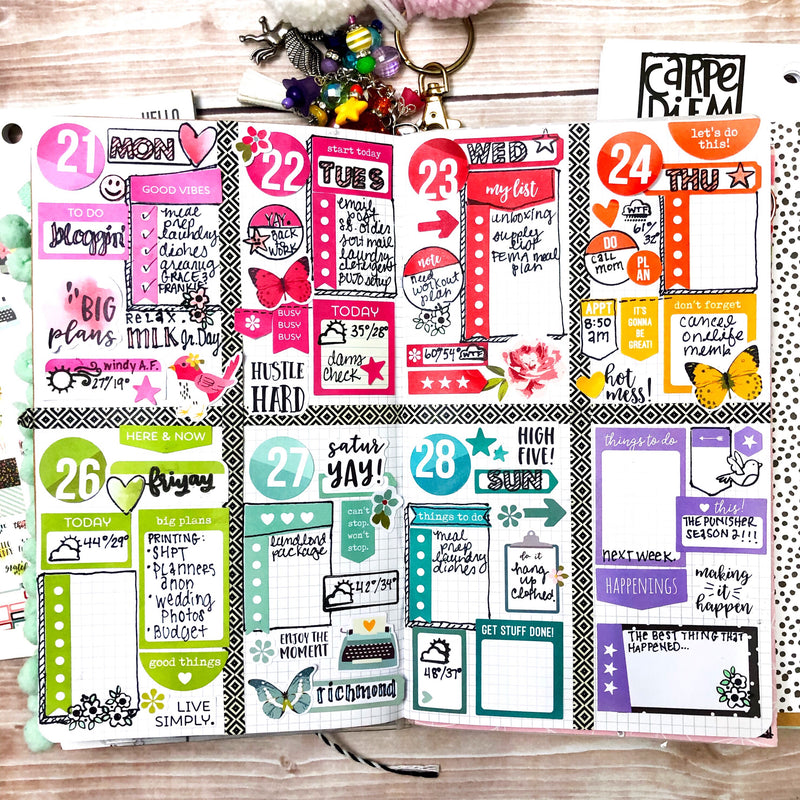 Mixing Things Up! Weekly Layouts and Sticker Tablets