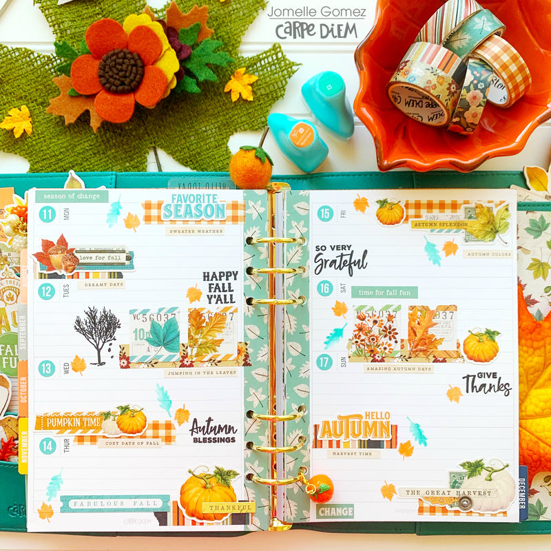 Autumn Splendor Planner Set Up!