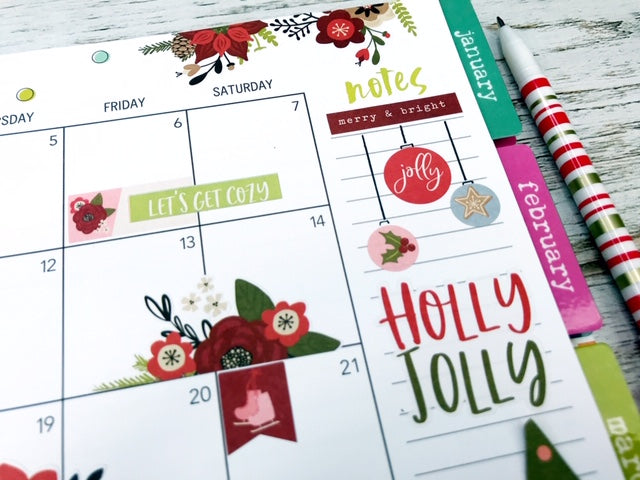 Christmastime in your Spiral Planner!