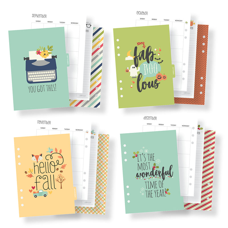 Seasons A5 Monthly Planner Inserts