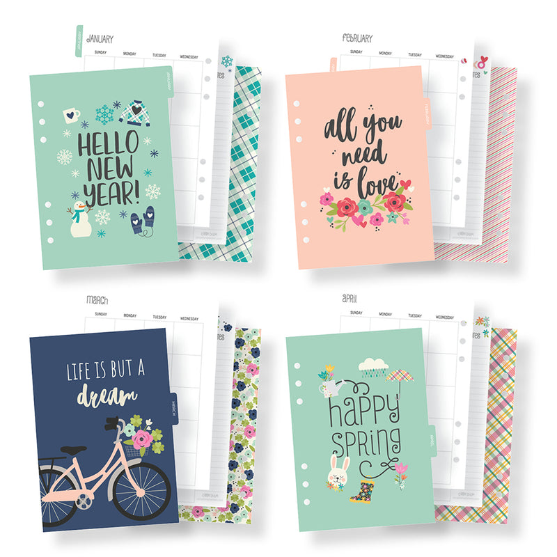 Bliss A5 Monthly Planner Inserts