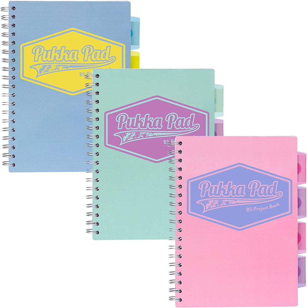 Pastel B5 Project Book 3 pack