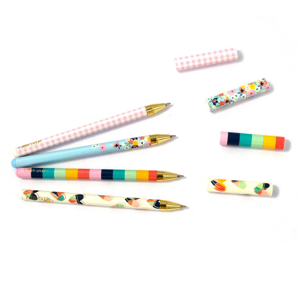 NEW Hearts Ball Point Pen 4 Pack