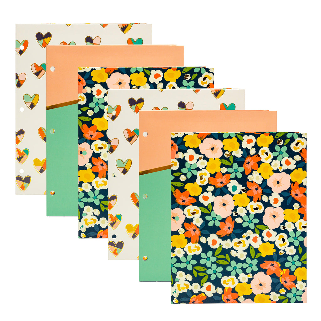 Floral Love 2-Pocket Portfolio 6-pack