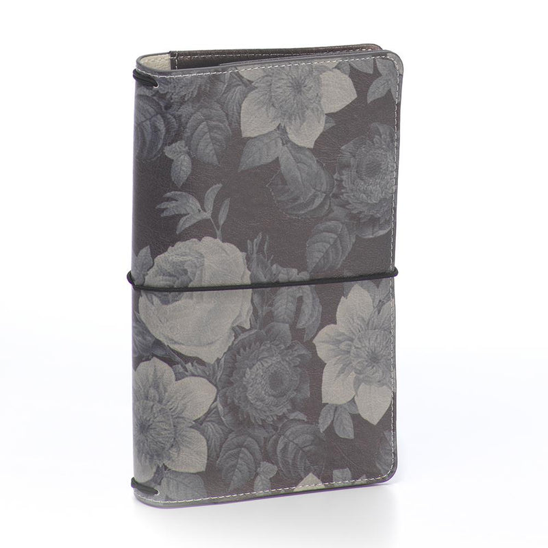 Black Vintage Floral Traveler's Notebook
