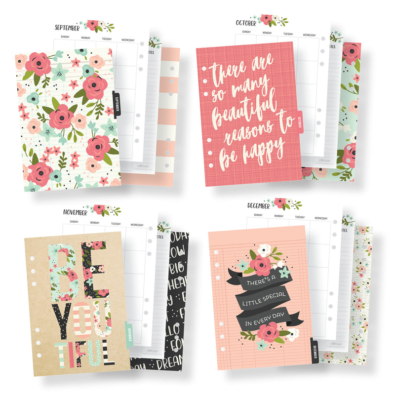 Bloom A5 Monthly Planner Inserts