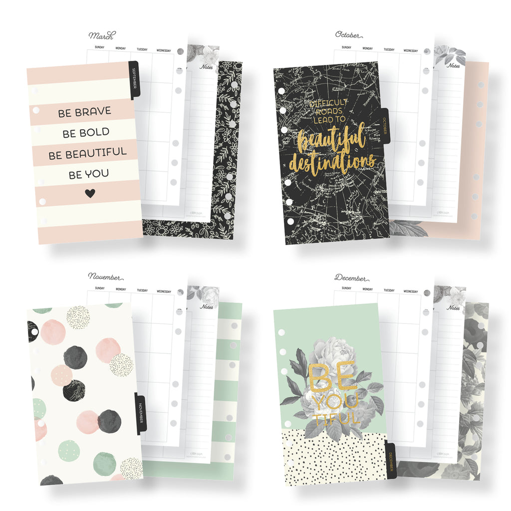 Beautiful Monthly Personal Planner Inserts