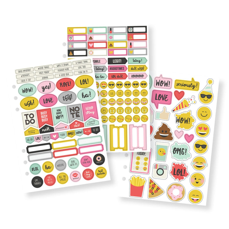 Emoji Love A5 12 Month Planner Insert Set