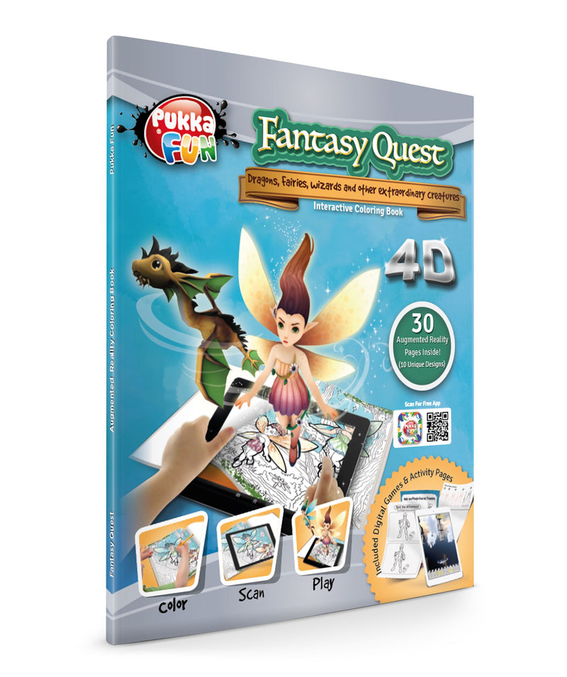 Pukka Fantasy Quest Augmented Reality Coloring Book