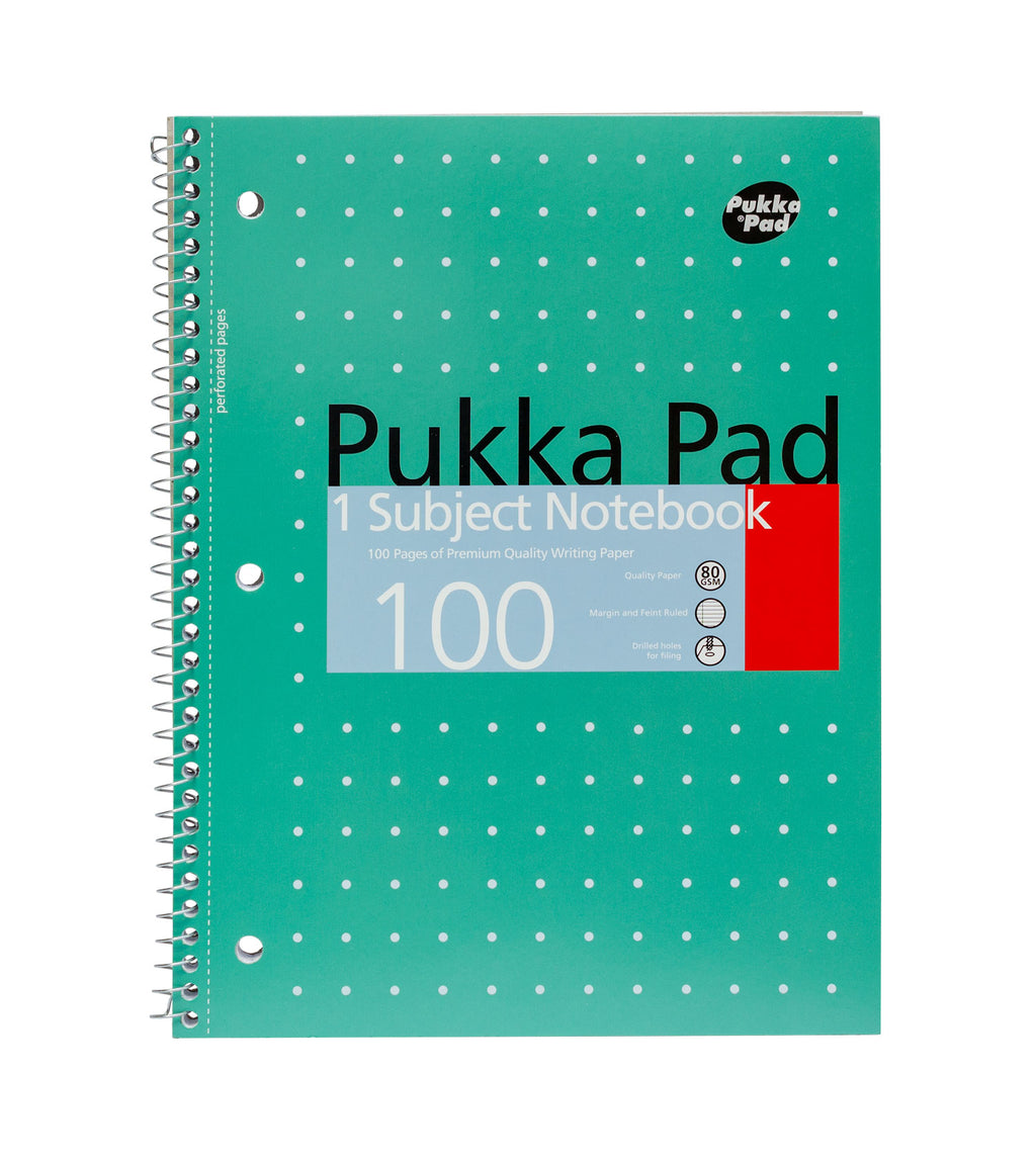 Green 1 subject Notebook 3 pack