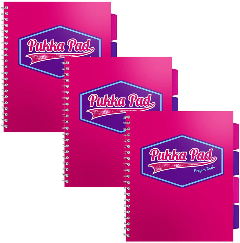 Pukka Pad Vision Pink Letter Size - 3 Pack
