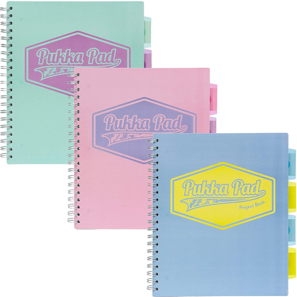 Pukka Pad 5-Subject Divider Notebooks - 3 Pack