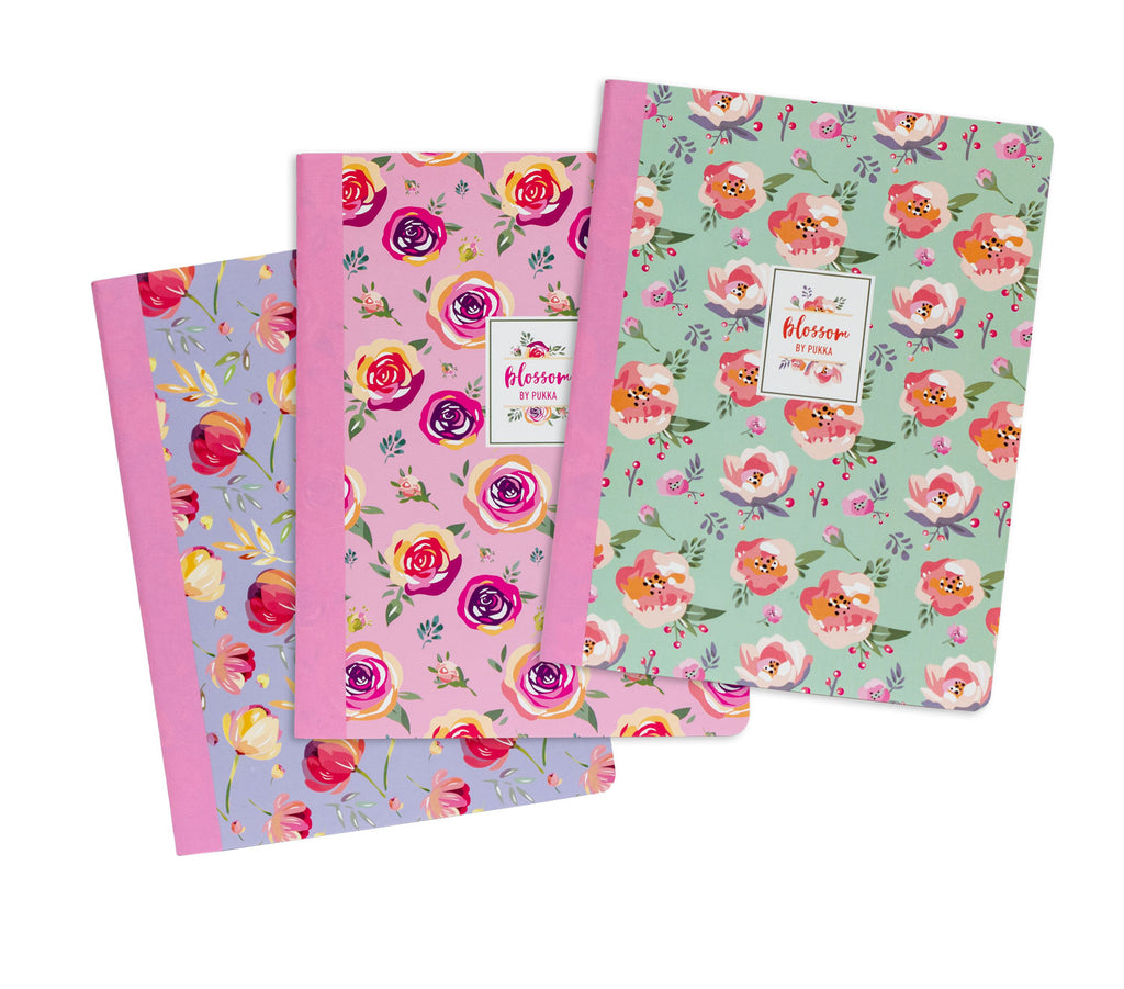 Blossom Composition Books 3-pack