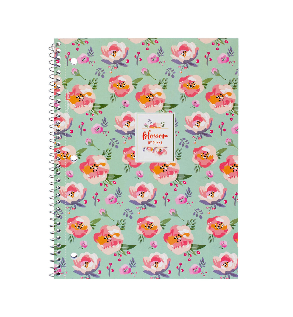 Blossom 1 Subject Notebook - 3 pack