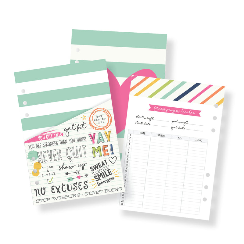 Fitness A5 Planner Inserts