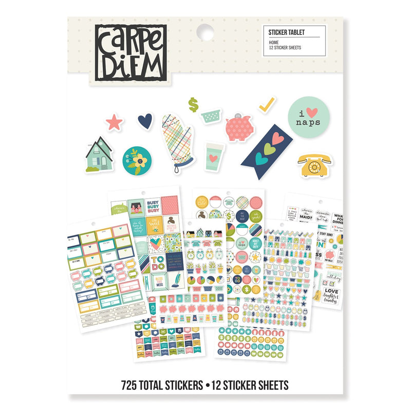 Carpe Diem Calendar 4x6 Stickers