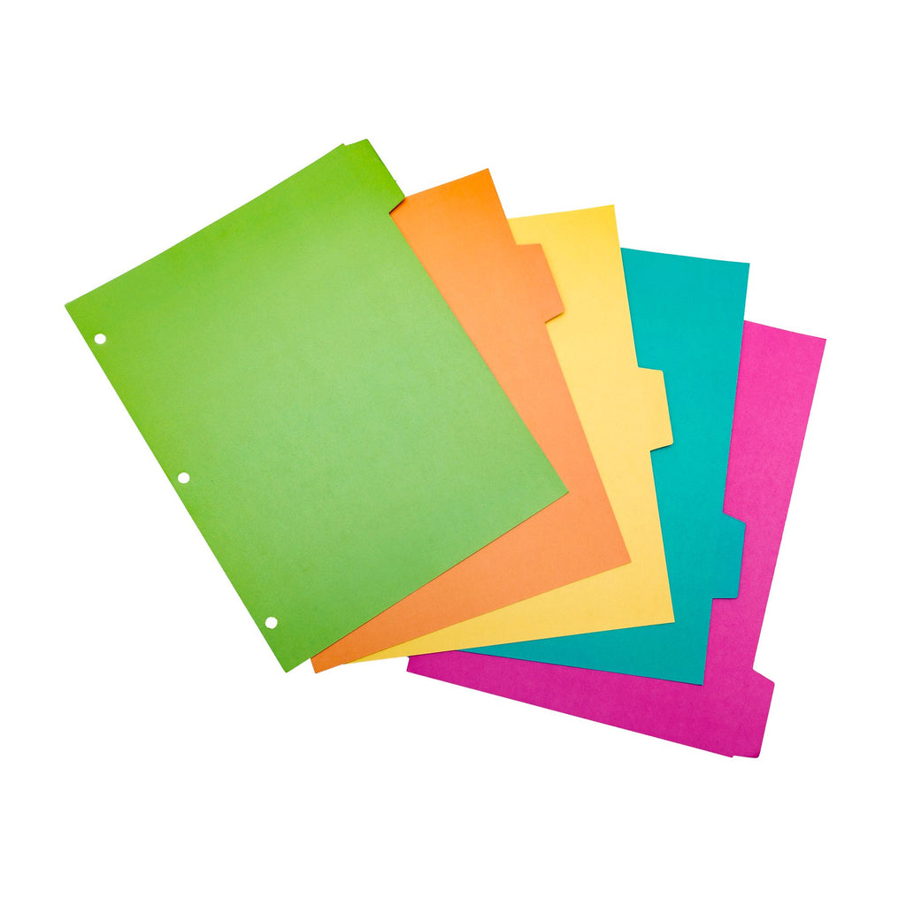 NEW Color Wash 5-Subject Reversible Dividers
