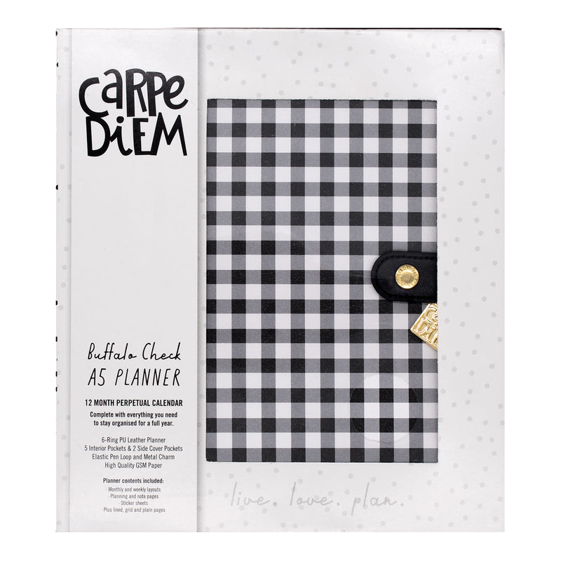 Buffalo Check A5 Planner Box Set