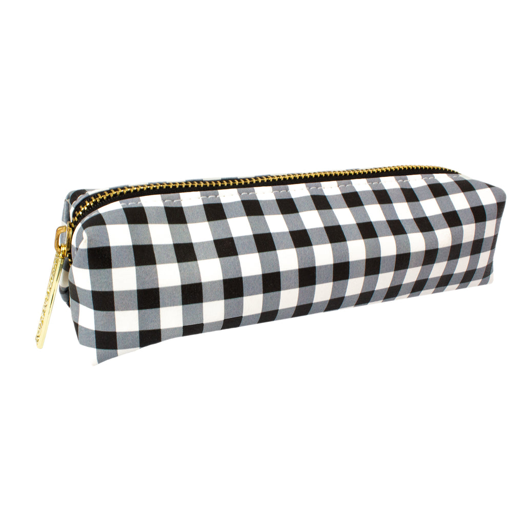 Buffalo Check Slim Pencil Case
