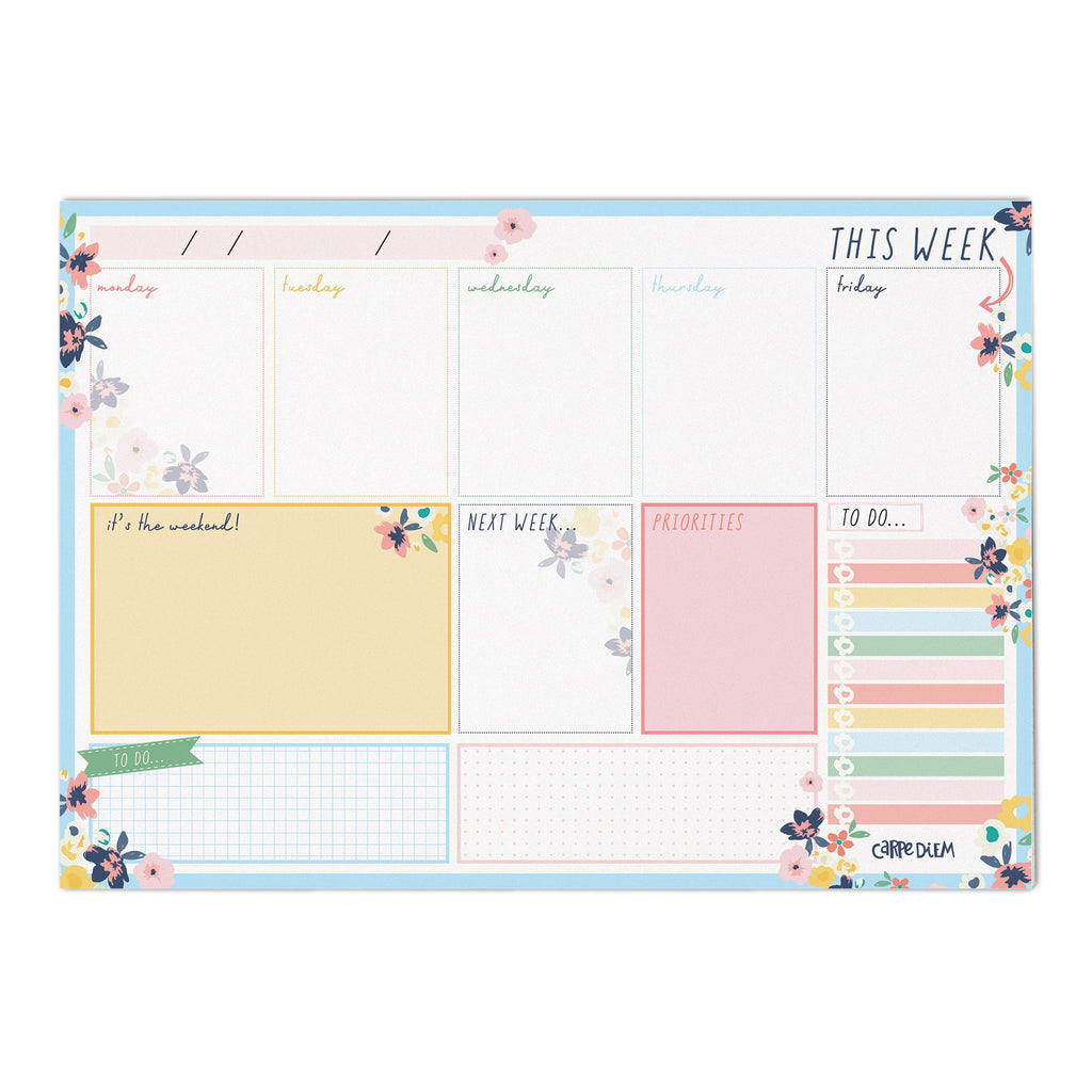 Ditsy Floral Weekly Planner Pad