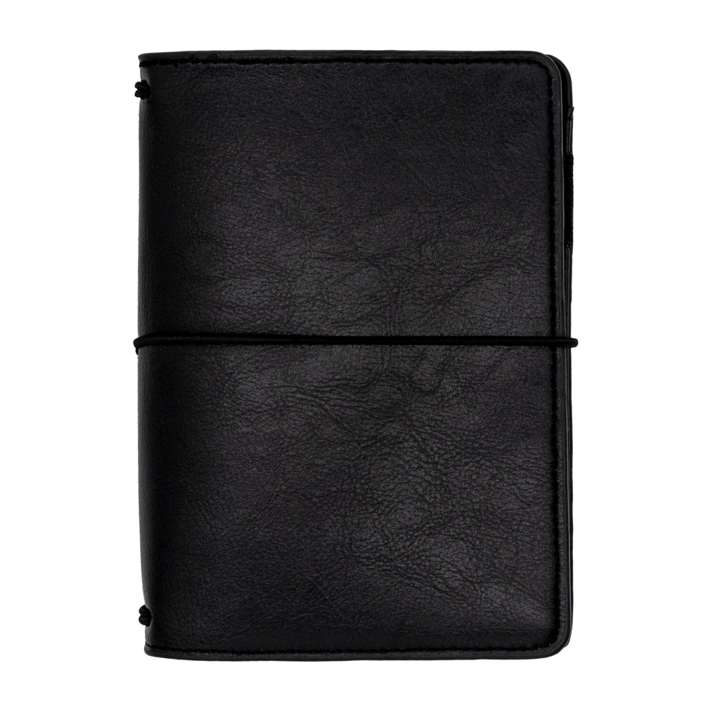 Black A6 Notebook and Passport Holder