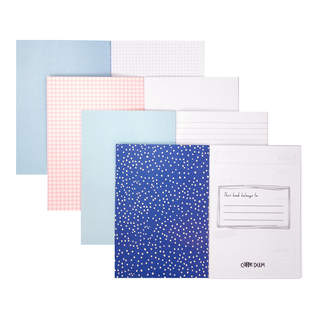 NEW Feathers A6 4 Pack Notebooks
