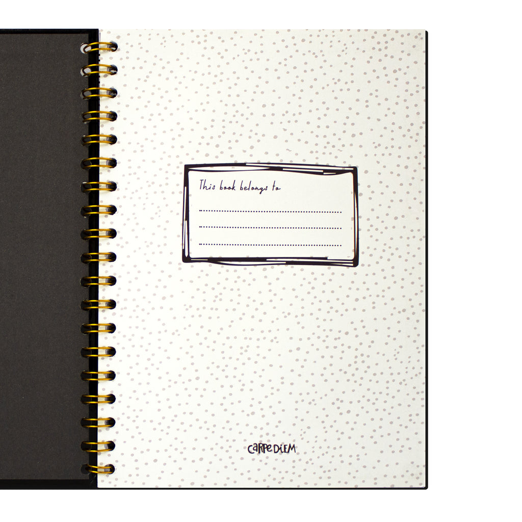 Black B5 Hardcover Notebook