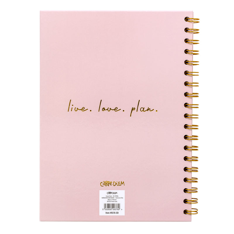 Ballerina Pink B5 Hardcover Notebook