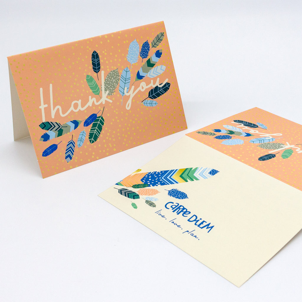 Feathers Thank You Cards