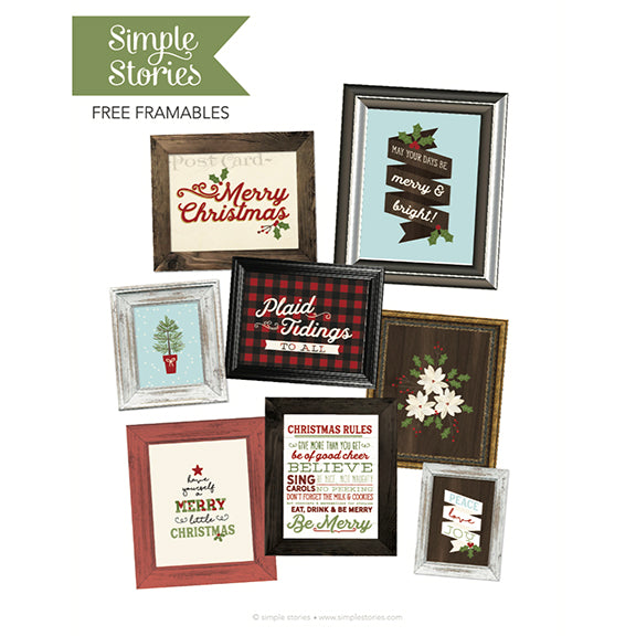 Classic Christmas Frameable Printables - Freebie