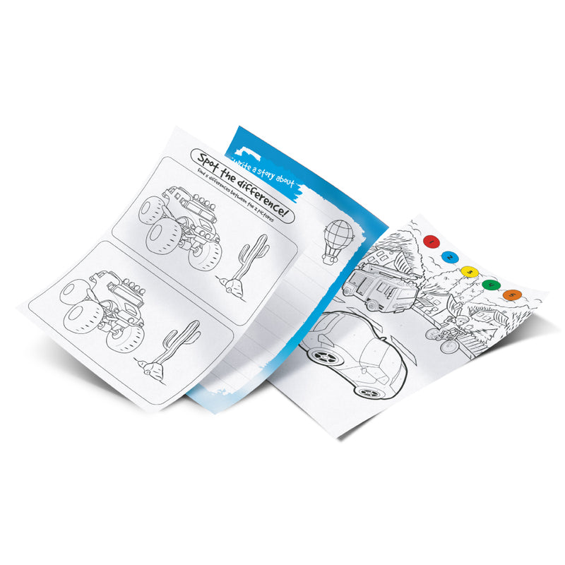 Pukka Fun Speed Racer Augmented Reality Coloring Book