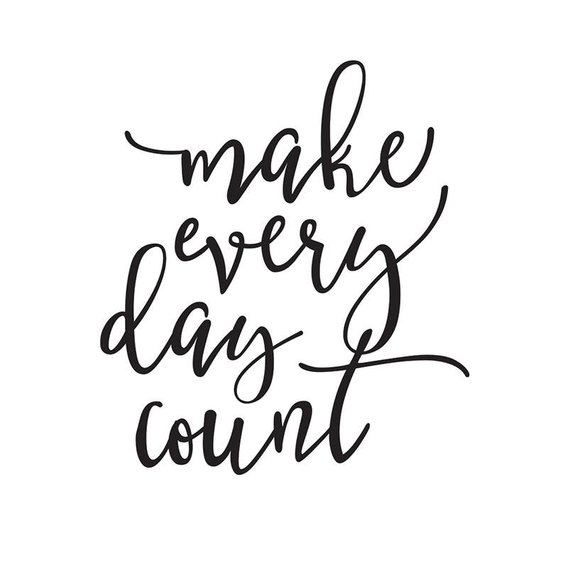Make Every Day Count Black Planner Decal