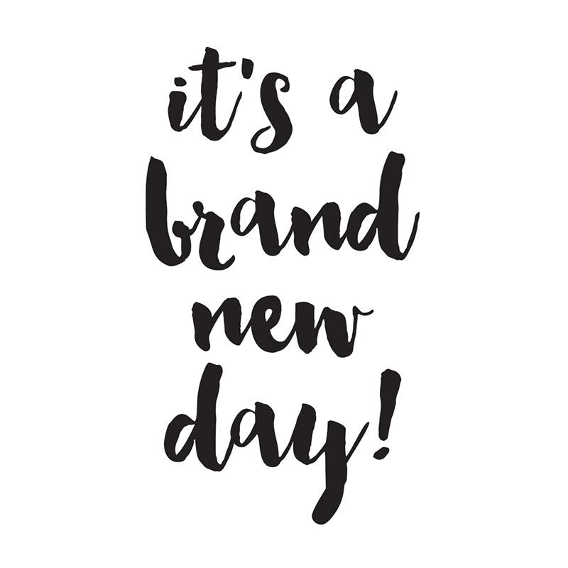 Brand New Day Black Planner Decal