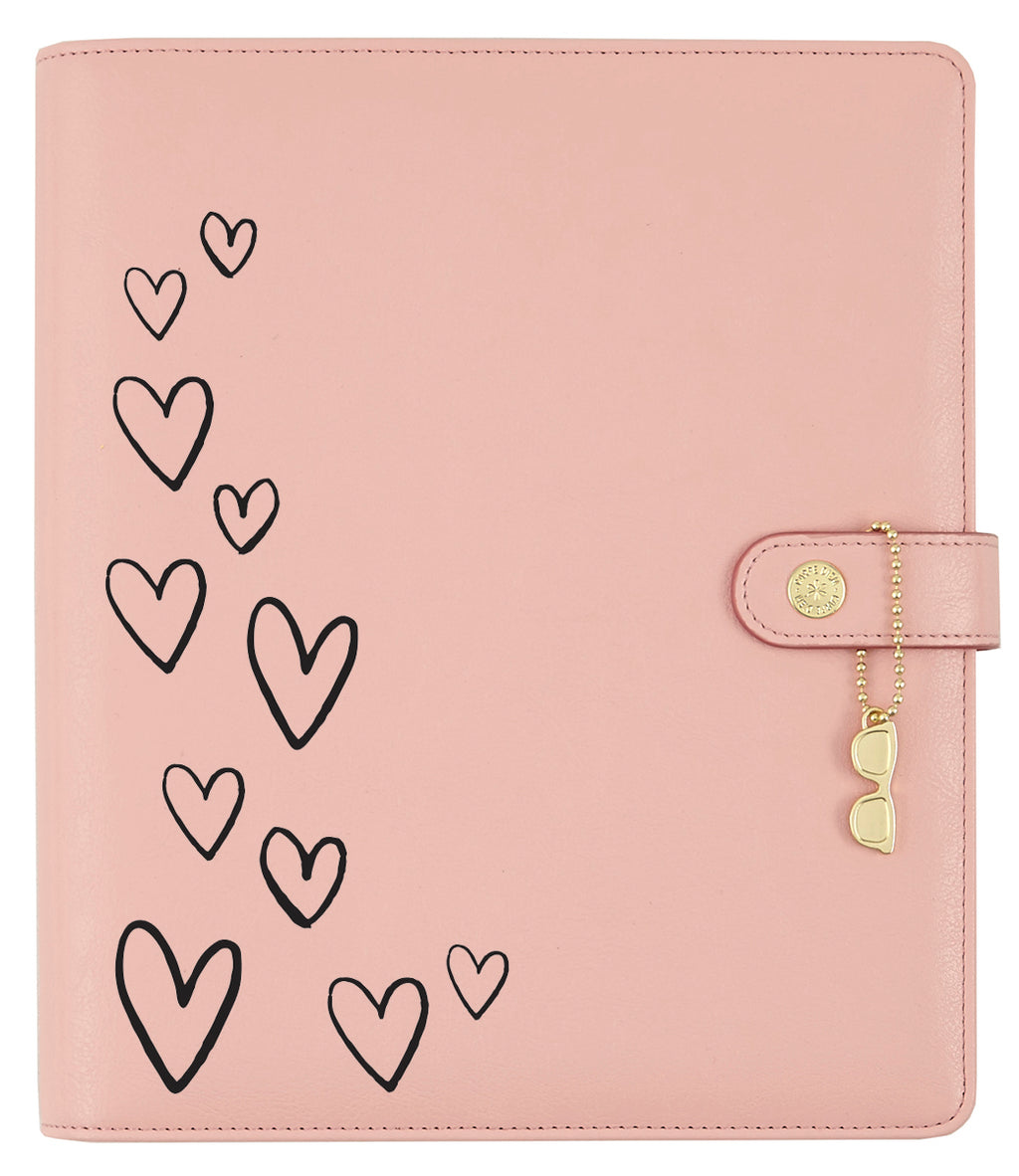 Floating Hearts Black Planner Decal