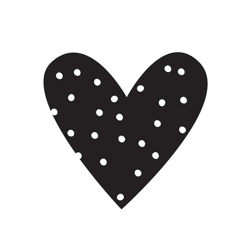 Small Heart Black Planner Decal