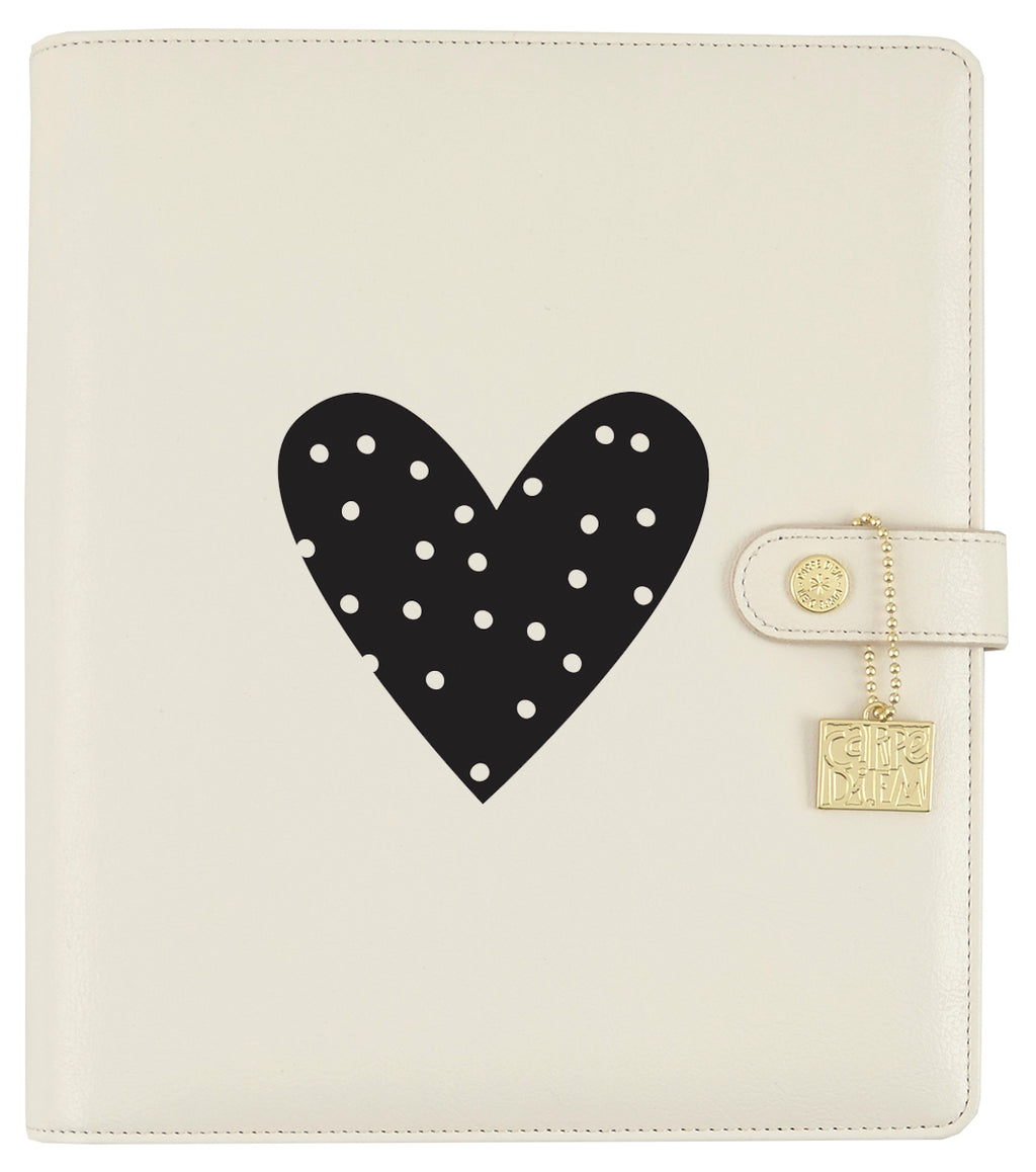 Heart Black Planner Decal