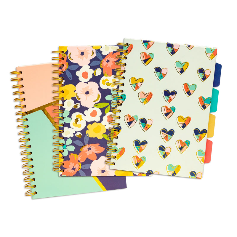 Floral Love B5 Project Book 3 pack