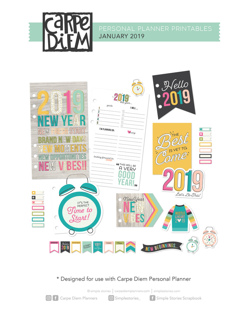 2019 Personal Planner Printables - January Freebie