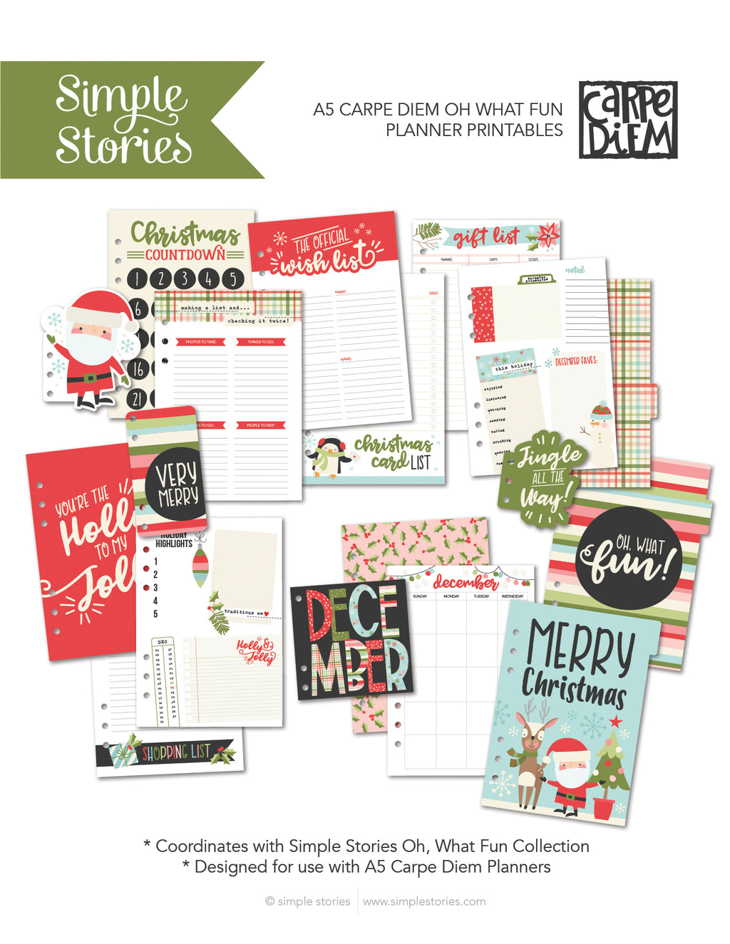 Oh, What Fun A5 Planner Printables - Freebie