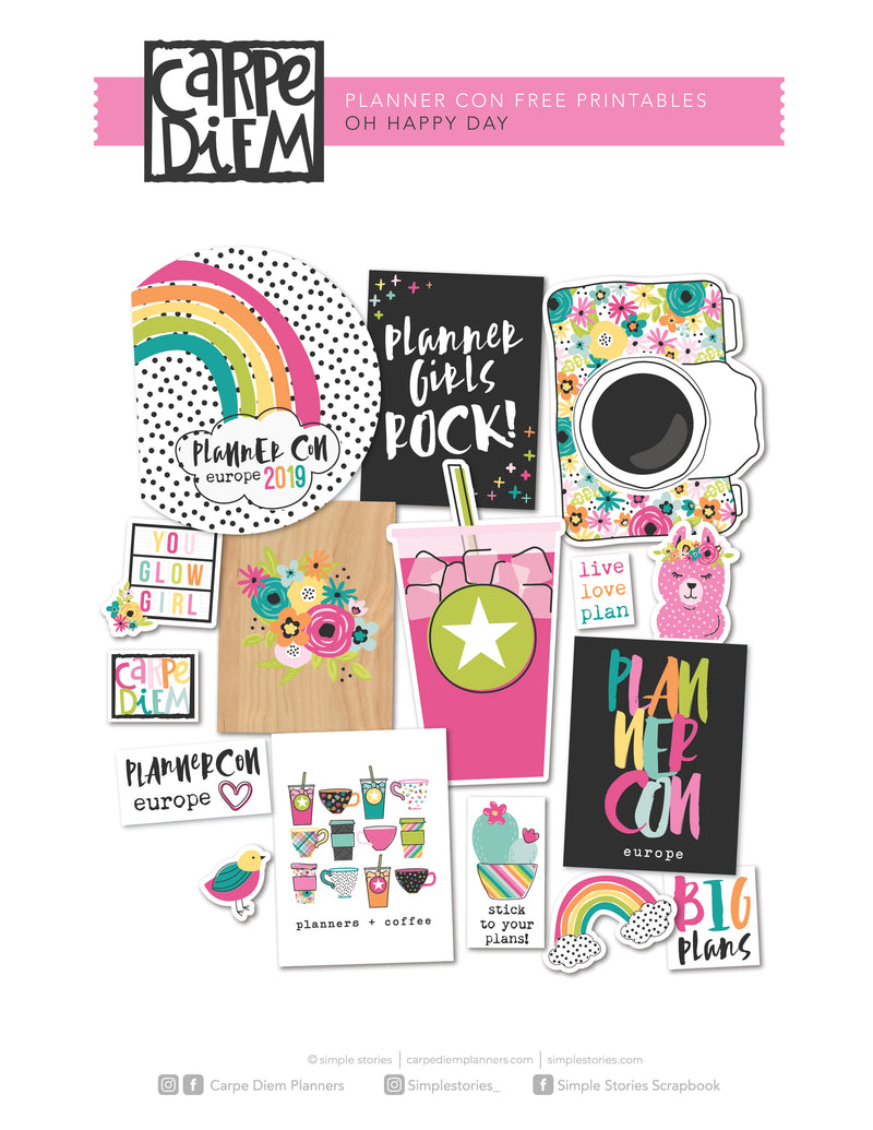 Hello Personal Planner Printables - Monthly Tabbed Dividers (Dated)