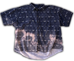 GuzFurbished Hand-Bleached Sailor Button-Up (MENS 3XL)