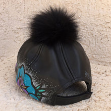 "GuzDesigns 1of1 Hand-Painted ""GUZROSES"" Pom Leather Strapback"