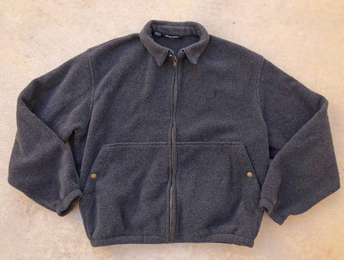 GuzFurbished Fleece Ralph Lauren Jacket with bleached collar (MENS L/XL)