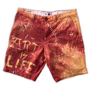 "GuzFurbished ""ART IS LIFE"" Old Navy Shorts (Size 36)"