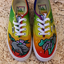 "GuzDesigns 1of1 Hand-Painted ""UNITY"" Vans (WOMENS 6.5 //MENS 5)"