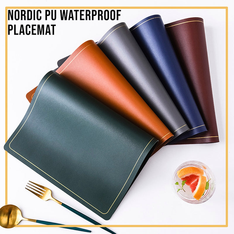 Leather Waterproof PU Placemat / Dinning table placemat/ Table Mat / Dinner placemat / CNY / Hari Raya