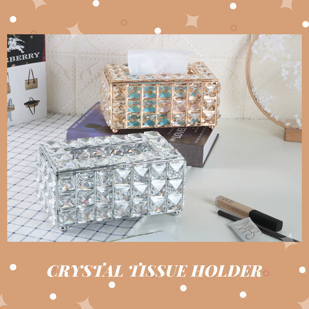 Victoria Glass Tissue Storage Holder