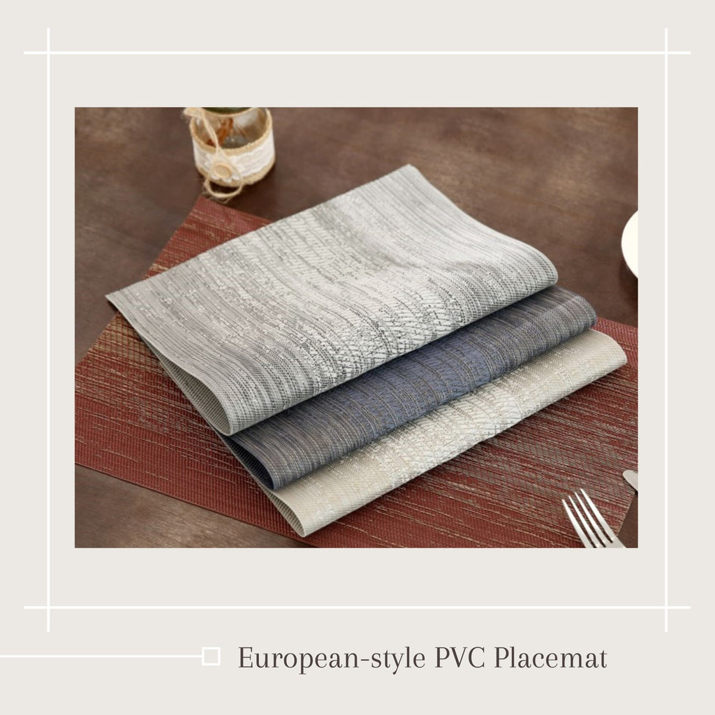 European-style PVC Placemat / 3 different colors / waterproof placemat / dinning table placemat / Tablemat